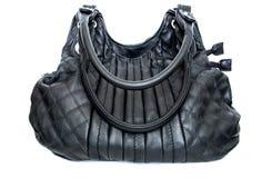 Μαύρη θηλυκή τσάντα Στοκ εικόνες με δικαίωμα ελεύθερης χρήσης