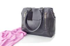 Μαύρη θηλυκή τσάντα στοκ φωτογραφίες με δικαίωμα ελεύθερης χρήσης