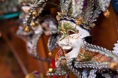μαύρη διακοσμητική μάσκα masque Βενετία καρναβαλιού Στοκ Εικόνες