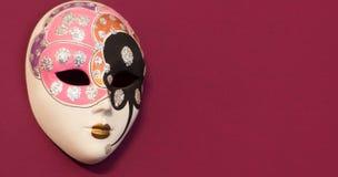 μαύρη διακοσμητική μάσκα masque Βενετία καρναβαλιού Στοκ εικόνες με δικαίωμα ελεύθερης χρήσης