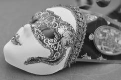 μαύρη διακοσμητική μάσκα masque Βενετία καρναβαλιού Στοκ Φωτογραφία