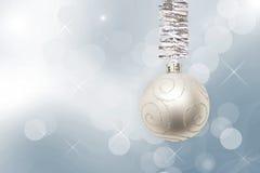 μαύρη διακόσμηση τέσσερα Χριστουγέννων σφαιρών ανασκόπησης Στοκ Εικόνες