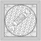 Μαύρη διανυσματική μονο έγχρωμη εικονογράφηση για τη Χαρούμενα Χριστούγεννα Στοκ Εικόνες
