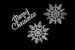 Μαύρη κάρτα Χαρούμενα Χριστούγεννας στοκ φωτογραφίες με δικαίωμα ελεύθερης χρήσης