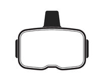 Μαύρη κάσκα εικονικής πραγματικότητας στο άσπρο υπόβαθρο στοκ εικόνες