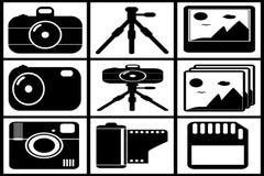 Μαύρη καθορισμένη συλλογή φωτογραφιών Στοκ Εικόνα