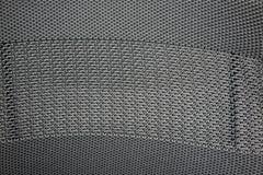 Μαύρη και γκρίζα συνθετική νάυλον ύφανση υφάσματος για τη σύσταση Στοκ φωτογραφία με δικαίωμα ελεύθερης χρήσης