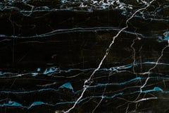 Μαύρη και μπλε μαρμάρινη σύσταση Στοκ εικόνα με δικαίωμα ελεύθερης χρήσης