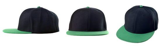 Μαύρη και πράσινη ΚΑΠ Στοκ εικόνες με δικαίωμα ελεύθερης χρήσης