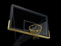 Μαύρη και χρυσή ράχη καλαθοσφαίρισης Στοκ Φωτογραφία