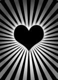 μαύρη καμμένος καρδιά Στοκ εικόνες με δικαίωμα ελεύθερης χρήσης