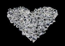 μαύρη καρδιά διαμαντιών Στοκ Φωτογραφία