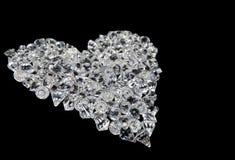 μαύρη καρδιά διαμαντιών Στοκ φωτογραφία με δικαίωμα ελεύθερης χρήσης