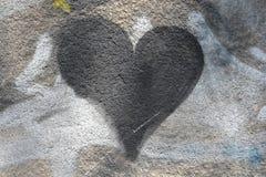 μαύρη καρδιά Στοκ φωτογραφίες με δικαίωμα ελεύθερης χρήσης