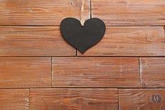 Μαύρη καρδιά αγάπης Στοκ φωτογραφίες με δικαίωμα ελεύθερης χρήσης