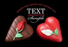 μαύρη καρδιά κέικ λίγα Στοκ εικόνες με δικαίωμα ελεύθερης χρήσης