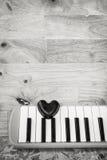 Μαύρη καρδιά και melodian Στοκ φωτογραφία με δικαίωμα ελεύθερης χρήσης
