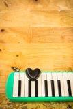 Μαύρη καρδιά και melodian Στοκ Εικόνα