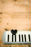Μαύρη καρδιά και melodian Στοκ εικόνες με δικαίωμα ελεύθερης χρήσης