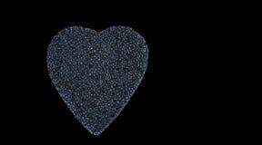 Μαύρη καρδιά χαβιαριών Στοκ Φωτογραφία