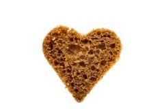 Μαύρη καρδιά ψωμιού Στοκ Εικόνες