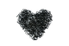 Μαύρη καρδιά Στοκ Φωτογραφία