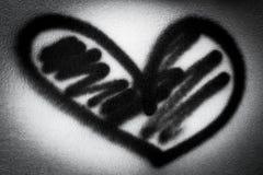 μαύρη καρδιά Στοκ Φωτογραφίες