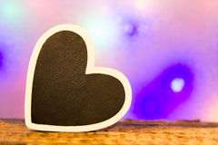 μαύρη καρδιά Στοκ φωτογραφία με δικαίωμα ελεύθερης χρήσης