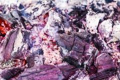 Μαύρη καύση άνθρακα Στοκ Εικόνα