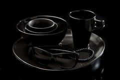 Μαύρη κεραμική Στοκ φωτογραφίες με δικαίωμα ελεύθερης χρήσης