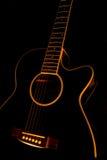 μαύρη κιθάρα Στοκ φωτογραφία με δικαίωμα ελεύθερης χρήσης