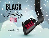Μαύρη κορδέλλα Παρασκευής Στοκ εικόνες με δικαίωμα ελεύθερης χρήσης