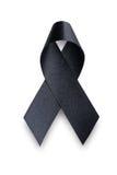 Μαύρη κορδέλλα συνειδητοποίησης Πένθος και σύμβολο μελανώματος Στοκ εικόνα με δικαίωμα ελεύθερης χρήσης