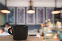 Μαύρη κούπα του καφέ Στοκ φωτογραφία με δικαίωμα ελεύθερης χρήσης