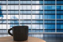 Μαύρη κούπα του καφέ Στοκ Εικόνα
