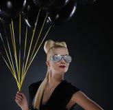 μαύρη κυρία δεσμών μπαλονιώ& στοκ εικόνες