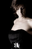 μαύρη κυρία φορεμάτων μακριά Στοκ φωτογραφία με δικαίωμα ελεύθερης χρήσης