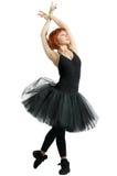 μαύρη κόκκινη φθορά tutu ballerina Στοκ εικόνα με δικαίωμα ελεύθερης χρήσης