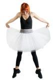 μαύρη κόκκινη φθορά tutu ballerina Στοκ φωτογραφίες με δικαίωμα ελεύθερης χρήσης
