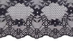 Μαύρη λεπτή floral σύσταση δαντελλών στοκ εικόνες