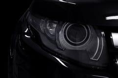 Μαύρη λεπτομέρεια προβολέων αυτοκινήτων στοκ εικόνες