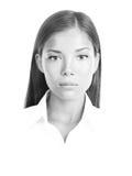 μαύρη λευκή γυναίκα πορτρέ στοκ εικόνες