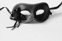 μαύρη μάσκα Βενετός καρναβ& Στοκ Εικόνες