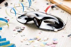 Μαύρη μάσκα καρναβάλι Στοκ Εικόνες