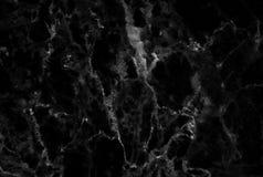 Μαύρη μαρμάρινη σύσταση με τα μέρη αντιπαραβαλλόμενο Στοκ Φωτογραφίες