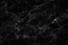 Μαύρη μαρμάρινη σύσταση σε φυσικό που διαμορφώνεται για το υπόβαθρο και το σχέδιο Στοκ Εικόνα