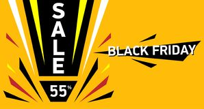 Μαύρη μεγάλη πώληση Παρασκευής Έκπτωση πώλησης μέχρι 55 ελεύθερη απεικόνιση δικαιώματος