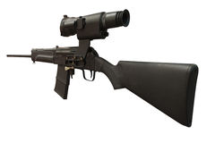 μαύρη μηχανή πυροβόλων όπλων Στοκ εικόνες με δικαίωμα ελεύθερης χρήσης