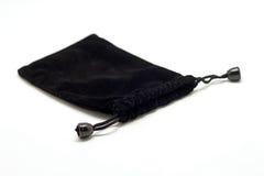 Μαύρη μικρή σακούλα υφάσματος στοκ εικόνες
