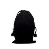 Μαύρη μικρή σακούλα υφάσματος στοκ φωτογραφία